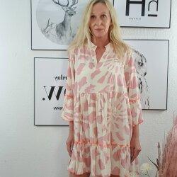Tunika Kleid mit Neon Nähten