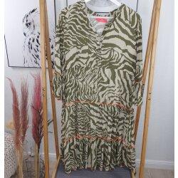 Animal Print Kleid Midi